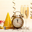 Happy new year - party decoration - Lizenzfreies Foto