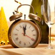 Stock Photo: New year - clock face and decorations