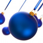 Blue baubles — Stock Photo