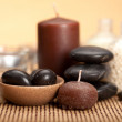 Spa - stones and candles — Stock Photo