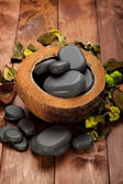 Spa - basalt stones — Stock Photo