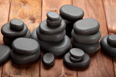 Spa treatment - basalt massage stones — Stock Photo