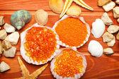 Aromatherapy - bath salt, sea shell, starfish and stones — Stock Photo