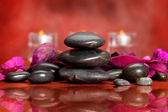 Spa treatment - massage stones — Stock Photo