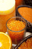 Orange bath salt — Stock Photo