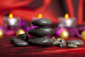 Black stones - spa treatment — Stock Photo