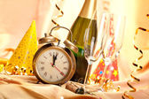 Happy new year - party decoration — Stok fotoğraf