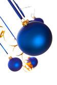 Christmas - blauwe ballen — Stockfoto