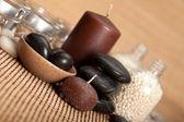 Spa - pietre e candele — Foto Stock