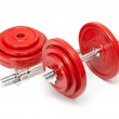 Body building - steel dumbbells — Stock Photo