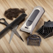 Hair Cutting equipment - Stock Photo