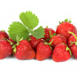 Strawberries on white background — Stock Photo