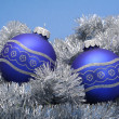 图库照片: Christmas baubles