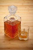 Whisky - karafa a pití — Stock fotografie