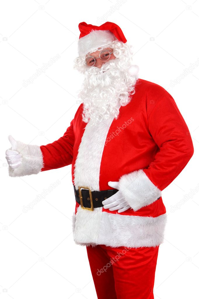 Santa Claus on white background  Stock Photo #6573322