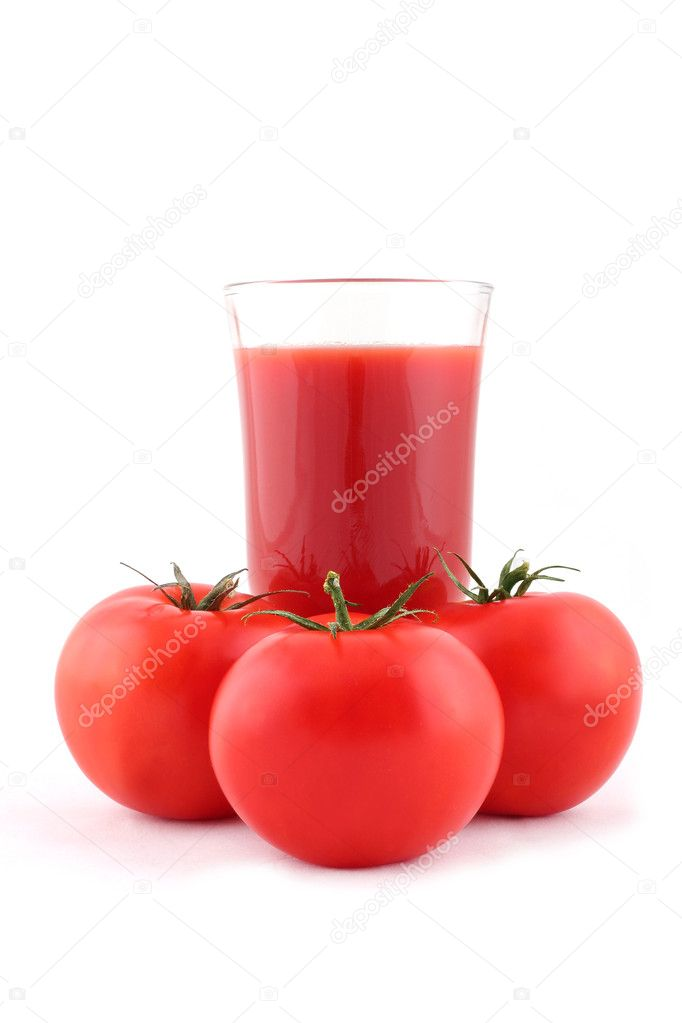 Tomatoes and tomato juice — Stock Photo #6573716