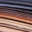 Stack of leather - Stock Photo