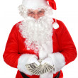 Santa with dollars — Stock Photo #6585559