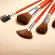 Professional make-up tools - brushes - Stock Photo