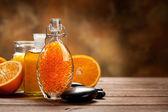 Arancio spa - sale da bagno e olio essenziale — Foto Stock