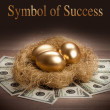 Symbol of Success - three golden eggs — Stock Photo #6671129