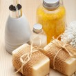 Stock Photo: Bath accessories - soap and bath salt