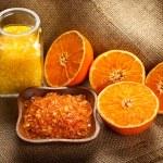 Bath salt and fruits - Orange Aromatherapy — Stock Photo #6674016