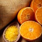 Bath salt and fruits - Orange Aromatherapy — Stock Photo #6674177