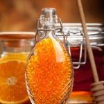 Orange Spa - fresh minerals for Aromatherapy — Stock Photo