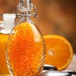 Orange Aromatherapy - bath salt and fruits — Stock Photo #6675175