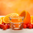 Stock Photo: Orange minerals for Spand Aromatherapy