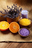 Aromatherapy - Orange and lavender minerals — Stock Photo