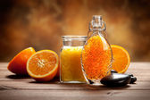 Natural Spa - Orange fruits and minerals — Stock Photo