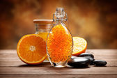 Orange - fruit and minerals for Spa — Stock Photo