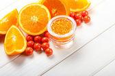 Fruit Spa - orange bath salt — Stock Photo