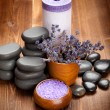 Spa stones - lavender aromatherapy — Stock Photo