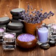 Spa treatment - hot stones and spa minerals - Stok fotoğraf
