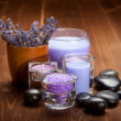 Stock Photo: Lavender spand wellness