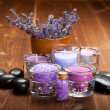 Lavender bath salt - Stock Photo