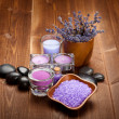 Spa and wellness - lavender aromatherapy — Stockfoto