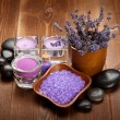 Spa and wellness - aromatherapy minerals and hot stones — Stock Photo