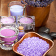 Spa and wellness - lavender aromatherapy — Stock Photo