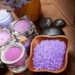 Body care treatment - lavender minerals — Stockfoto