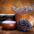 Spa treatment - lavender aromatherapy — Stock Photo