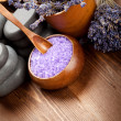 Spa treatment - body care; lavender aromatherapy — Stock Photo