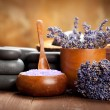 Beauty treatment - lavender spa — Stock Photo
