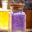 Stock Photo: Spa essentials - lavender aromatherapy