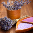 Lavender - spa supplies — Stock Photo