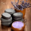 Lavender bath salt — Stock Photo #6686652
