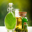 Body care treatment - Green minerals for Spa and wellness — Stock Photo
